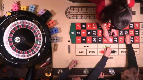 Dragonara Palace Casino Malta mit Croupier und Spielern am Roulettetisch